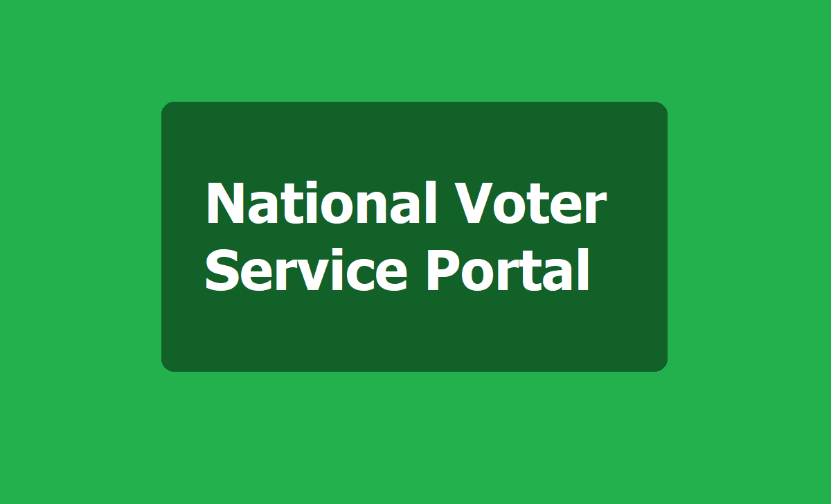 National Voter Service Portal
