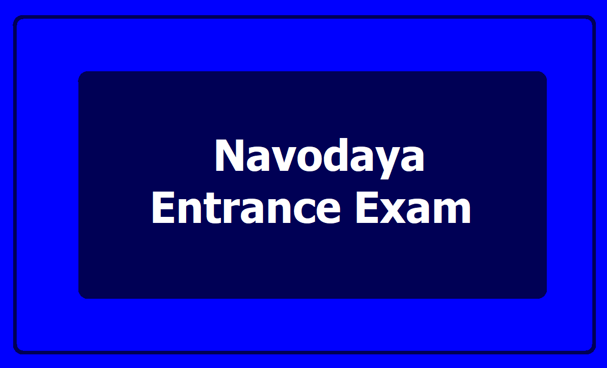 Navodaya Entrance Exam 2021