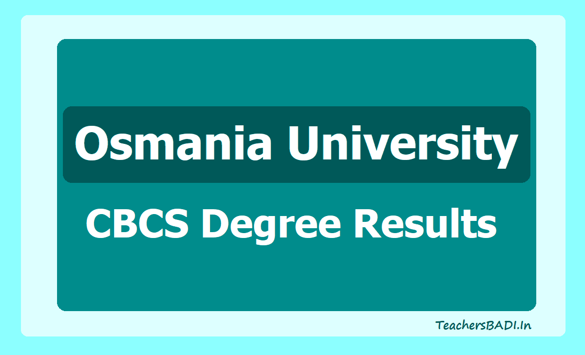 Osmania University CBCS Degree Results