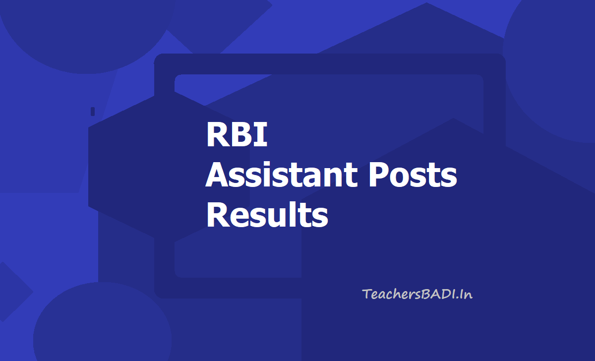 RBI Assistant Posts Results