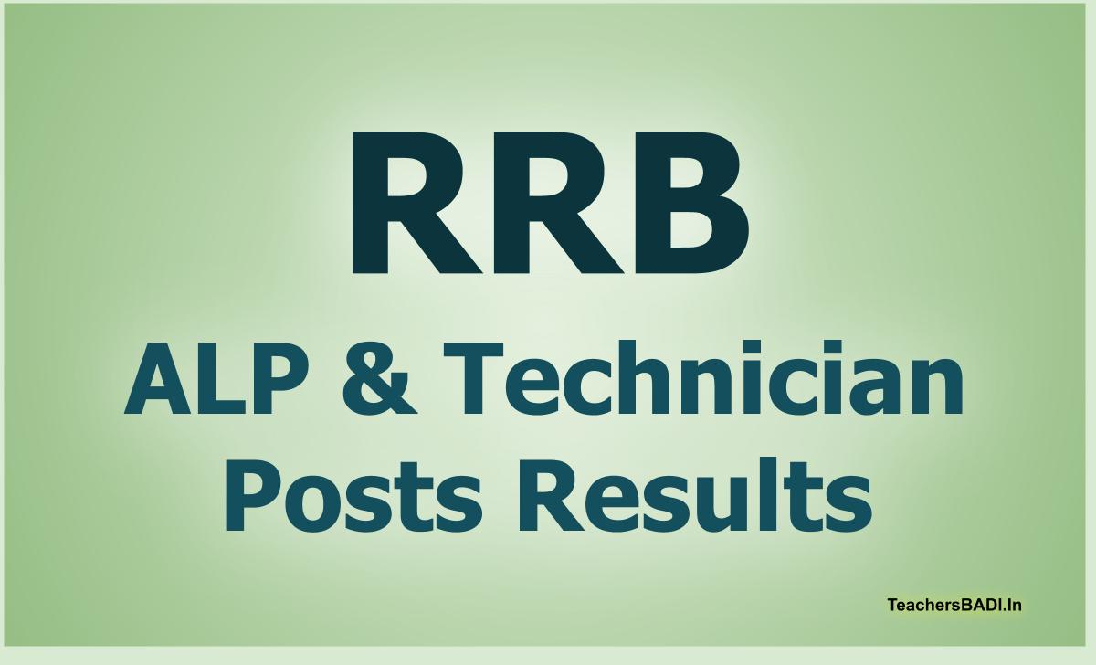 RRB ALP & Technician Posts Final Results