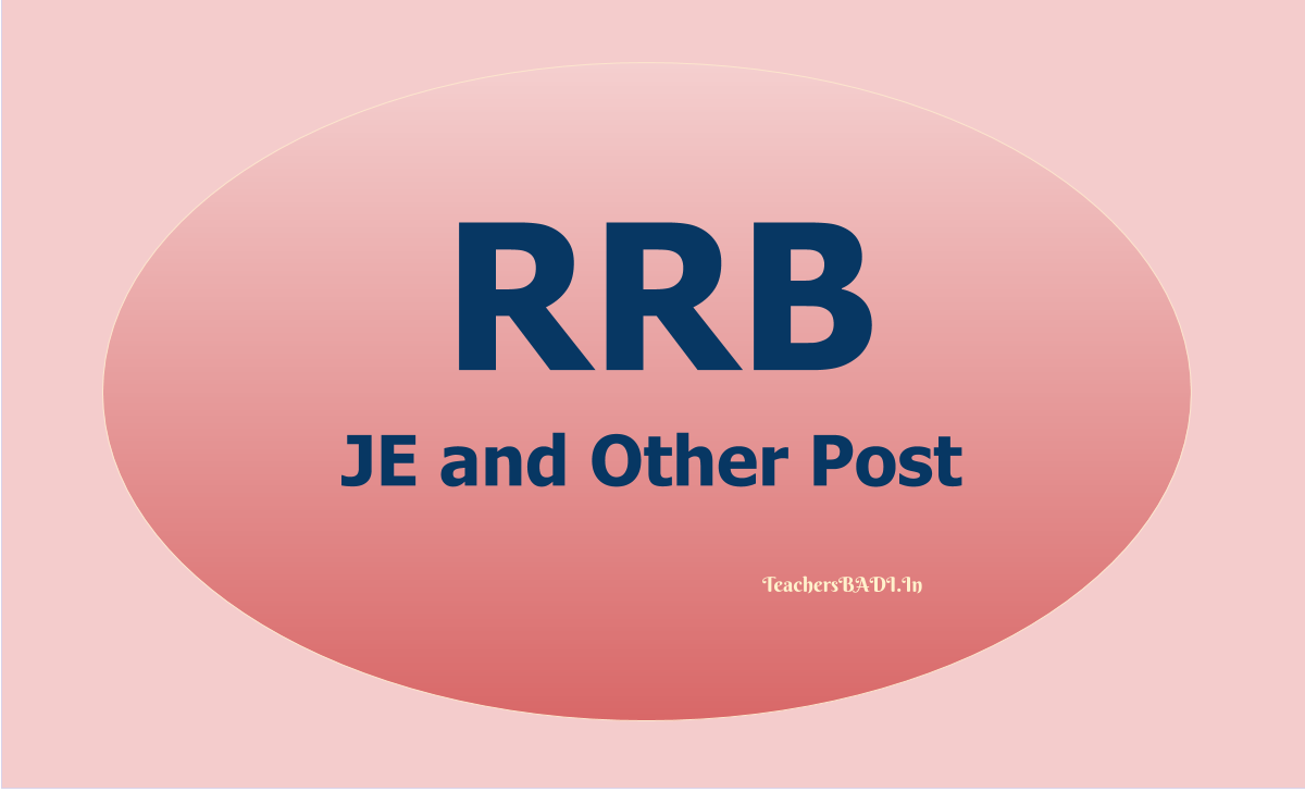 RRB JE Recruitment 2020