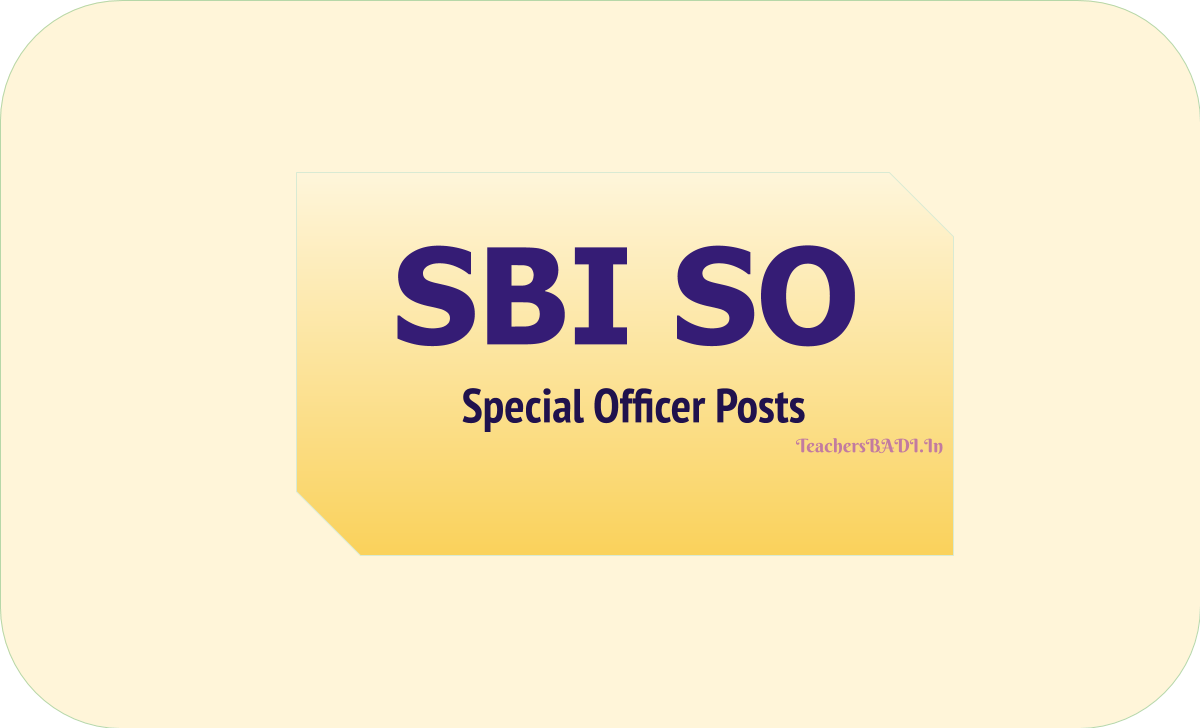 SBI SO 2020: Specialist Cadre Officers Recruitment & Apply online