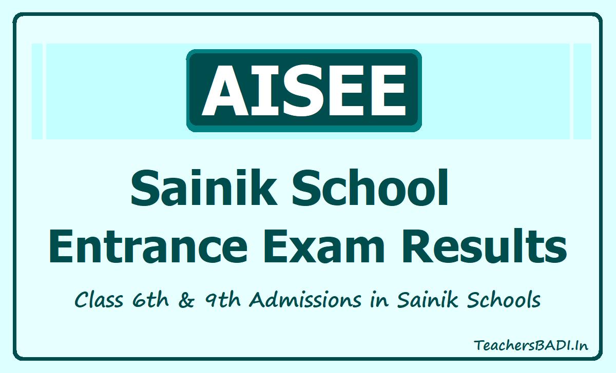 Sainik School Entrance Exam Results