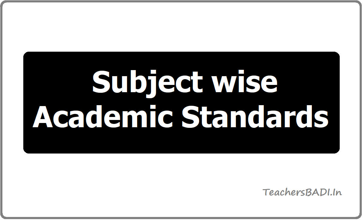 Subject wise Academic Standards