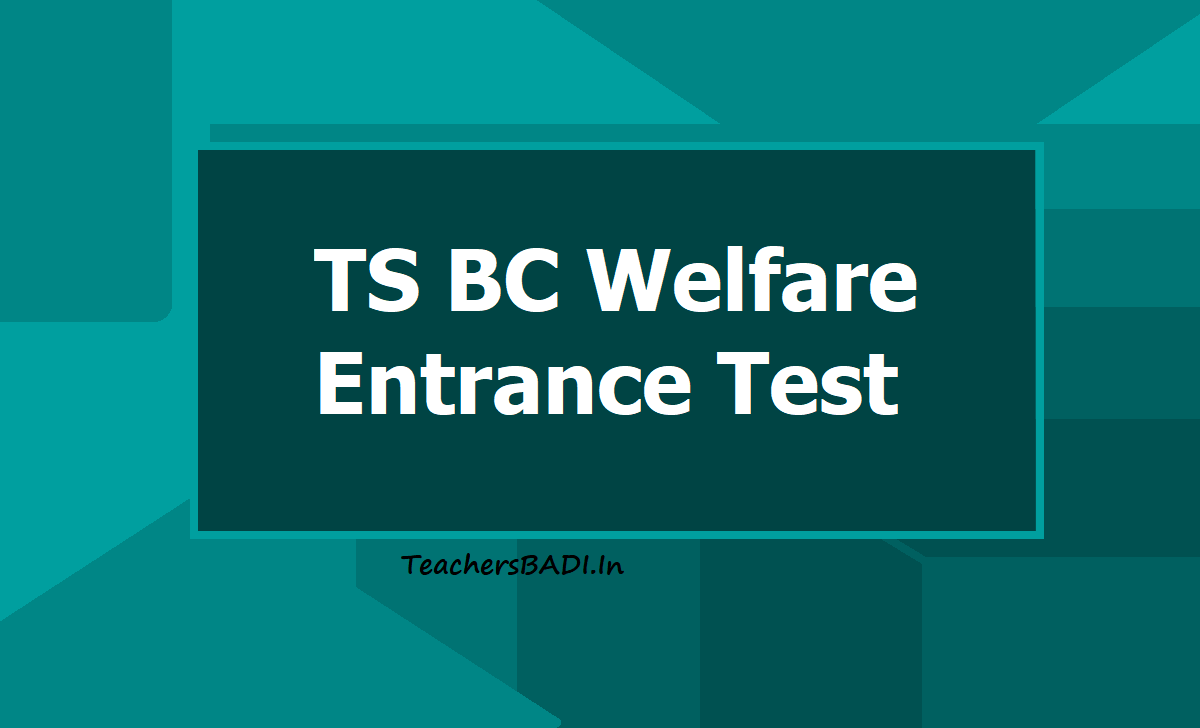 TS BC Welfare 6th 7th 8th Class Entrance test