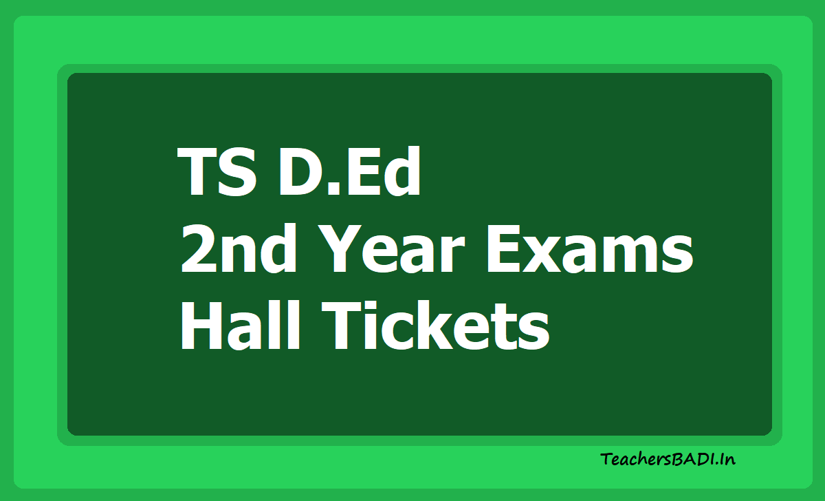 TS D.Ed 2nd Year Exams Hall Tickets 2020