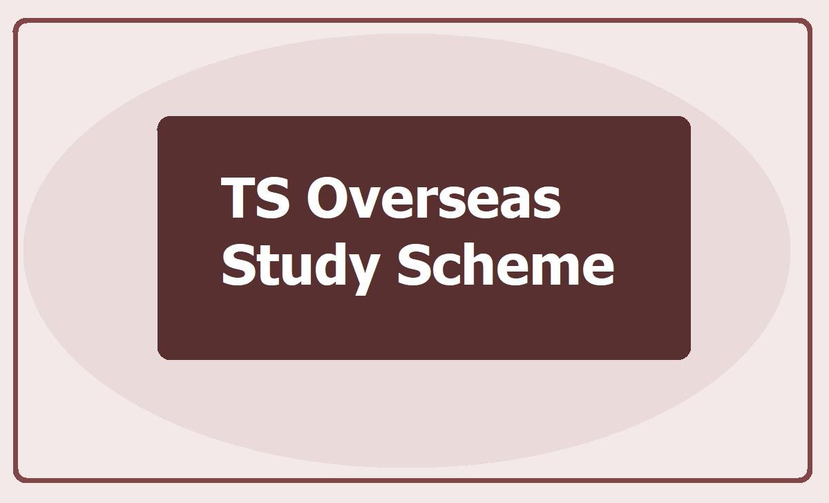 TS Overseas Study Scheme 2020