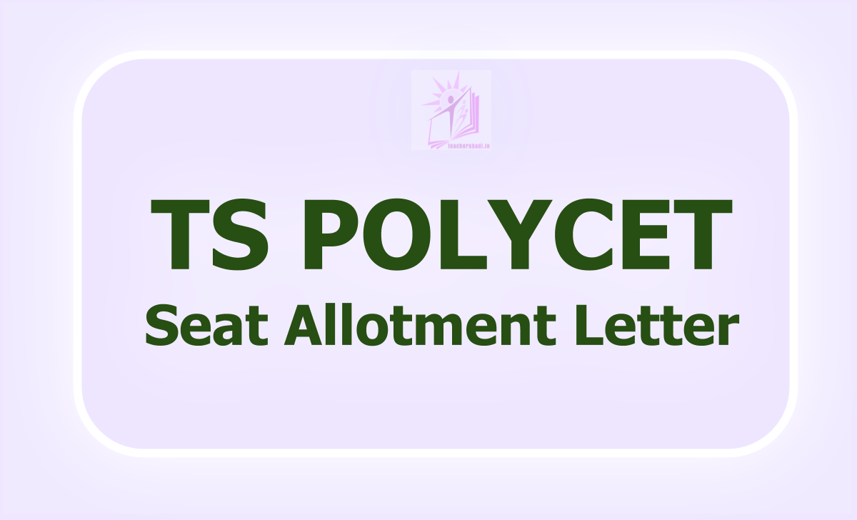 TS POLYCET Seat Allotment Letter