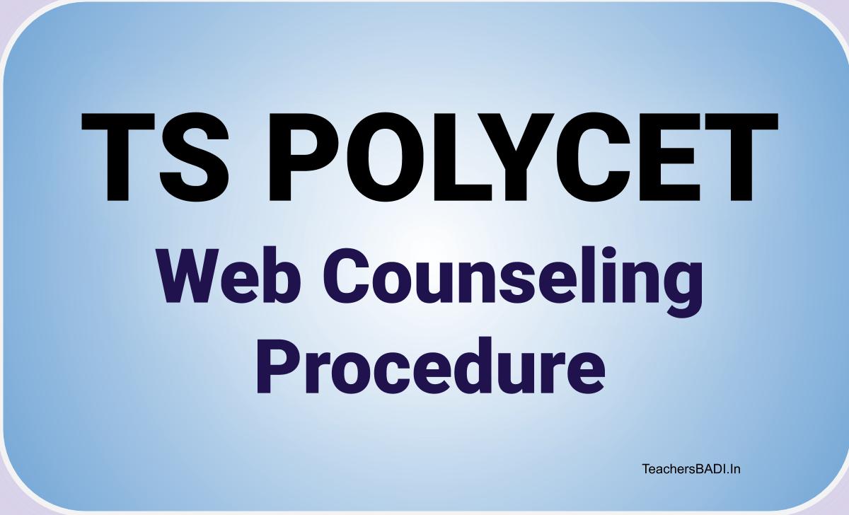 TS POLYCET Web Counseling Procedure