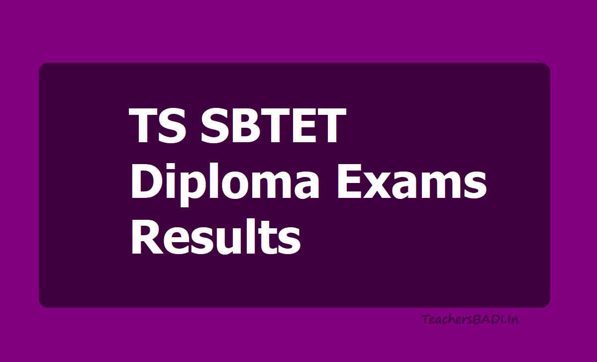 TS SBTET Diploma Exams Results 2020