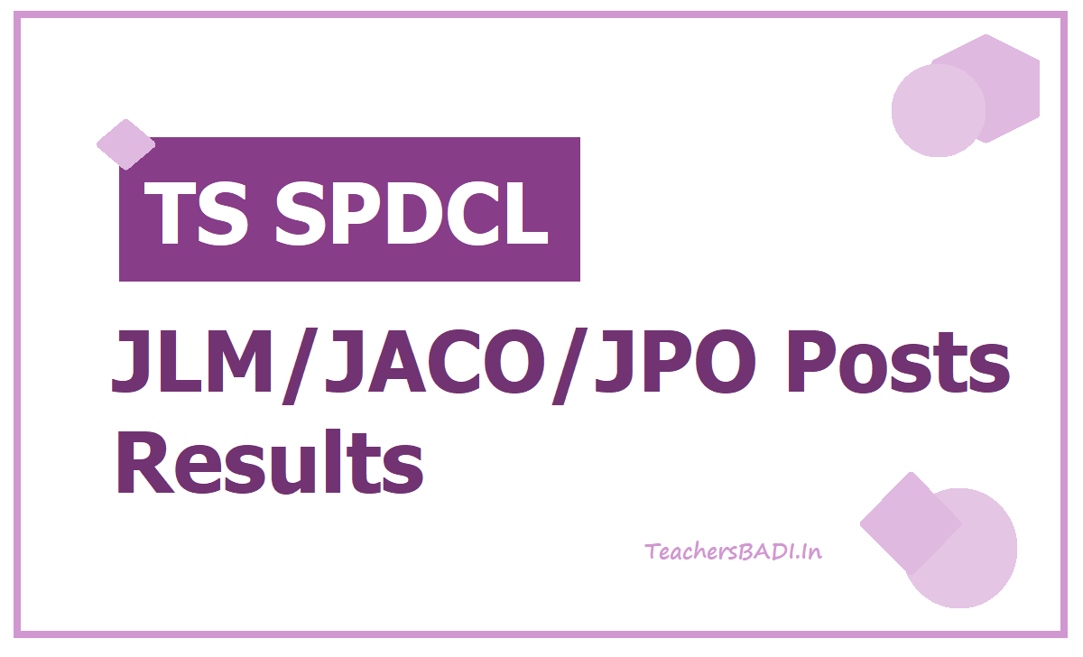 TS SPDCL JLM JACO JPO Posts Results