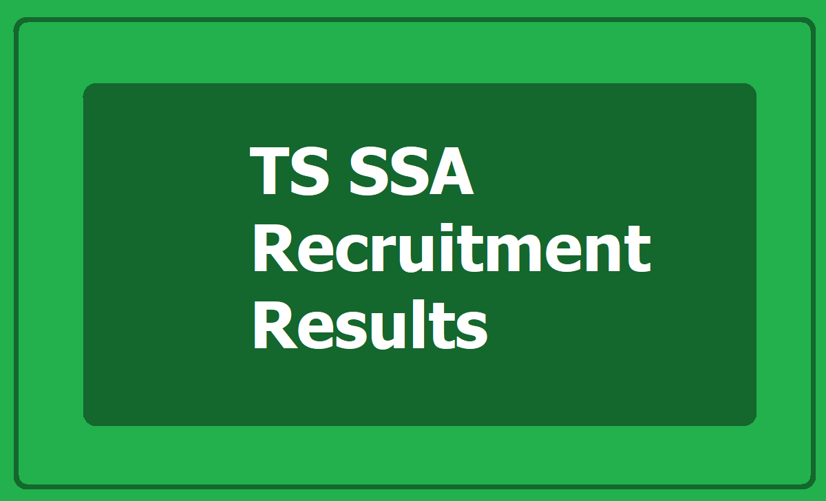 TS SSA Recruitment Results