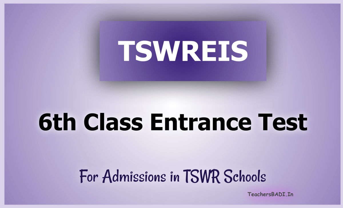 TS Social Welfare 6th Class Entrance Test 2021