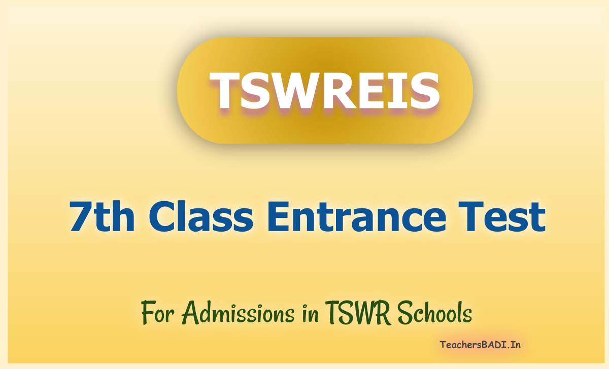 TS Social Welfare 7th Class Entrance Test 2020