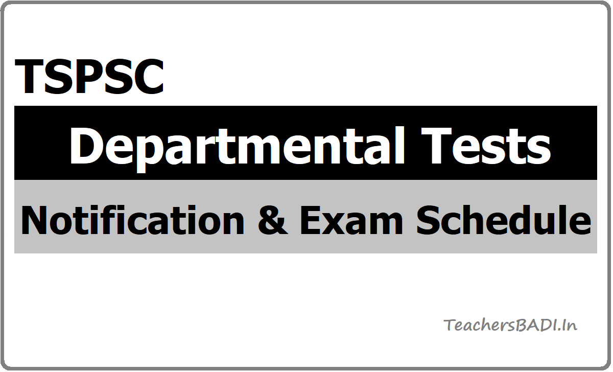 TSPSC Departmental Tests