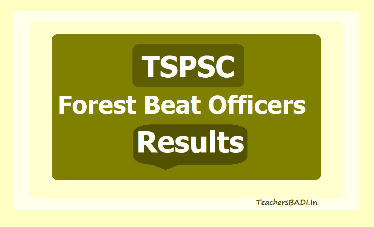 TSPSC Forest Beat Officers Results