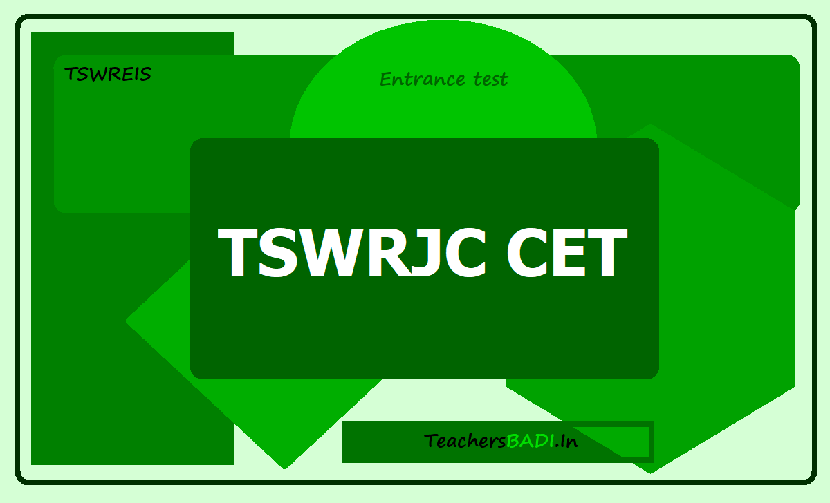 TSWRJC CET 2020