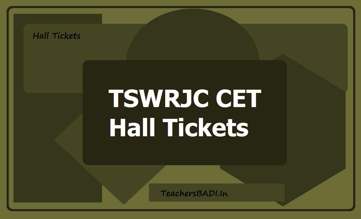 TSWRJC CET Hall Tickets 2021