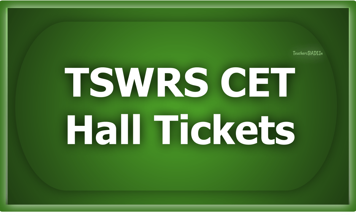 TSWRS CET Hall Tickets