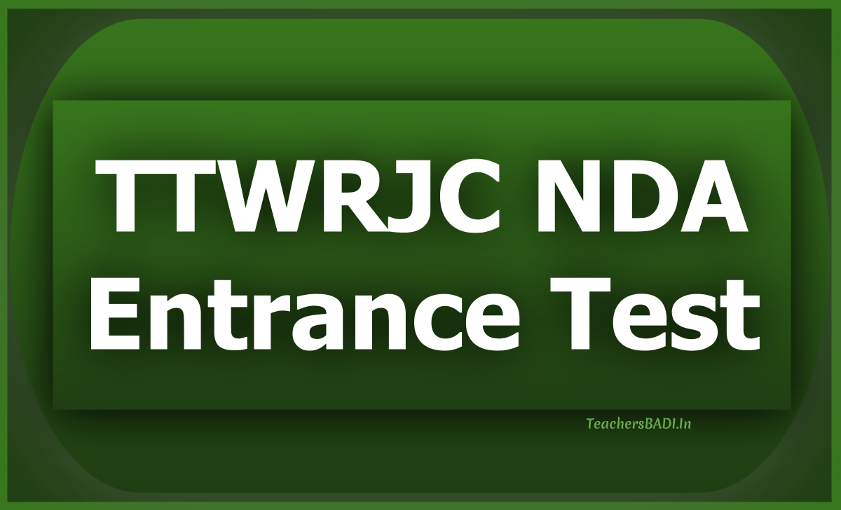 TTWRJC NDA Entrance Test 2020