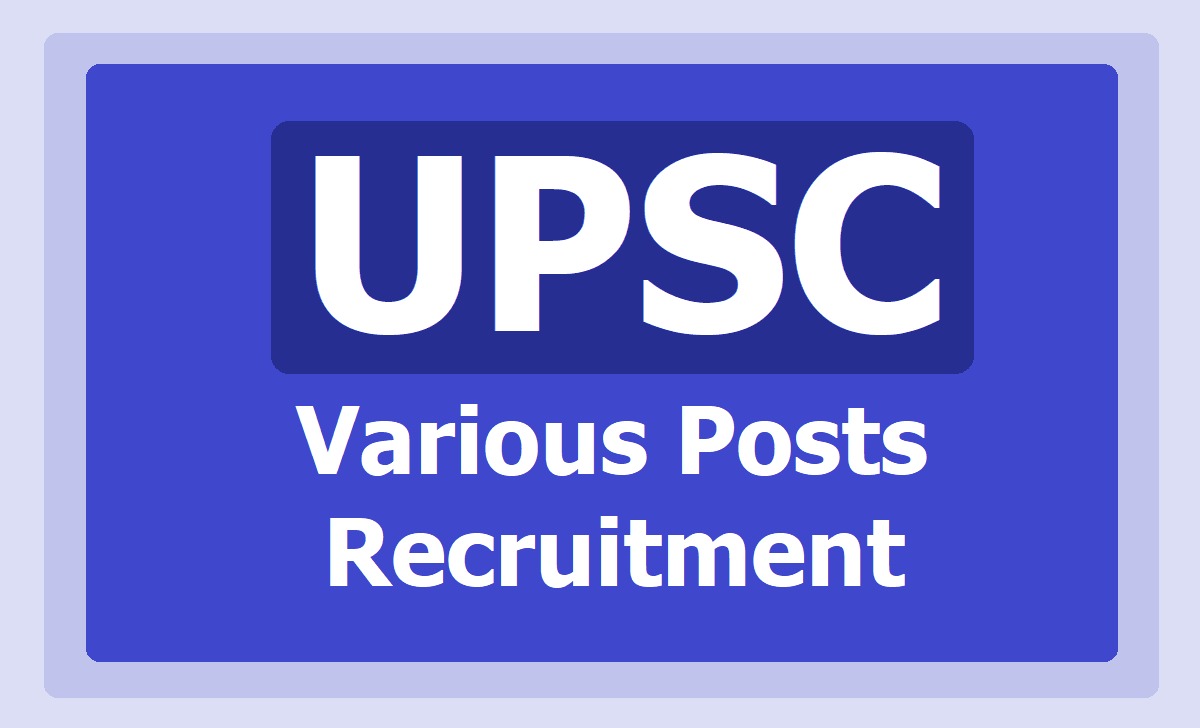 UPSC Assistant Engineer and Other Posts Recruitment