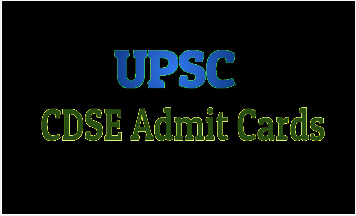 UPSC CDSE I Admit Card