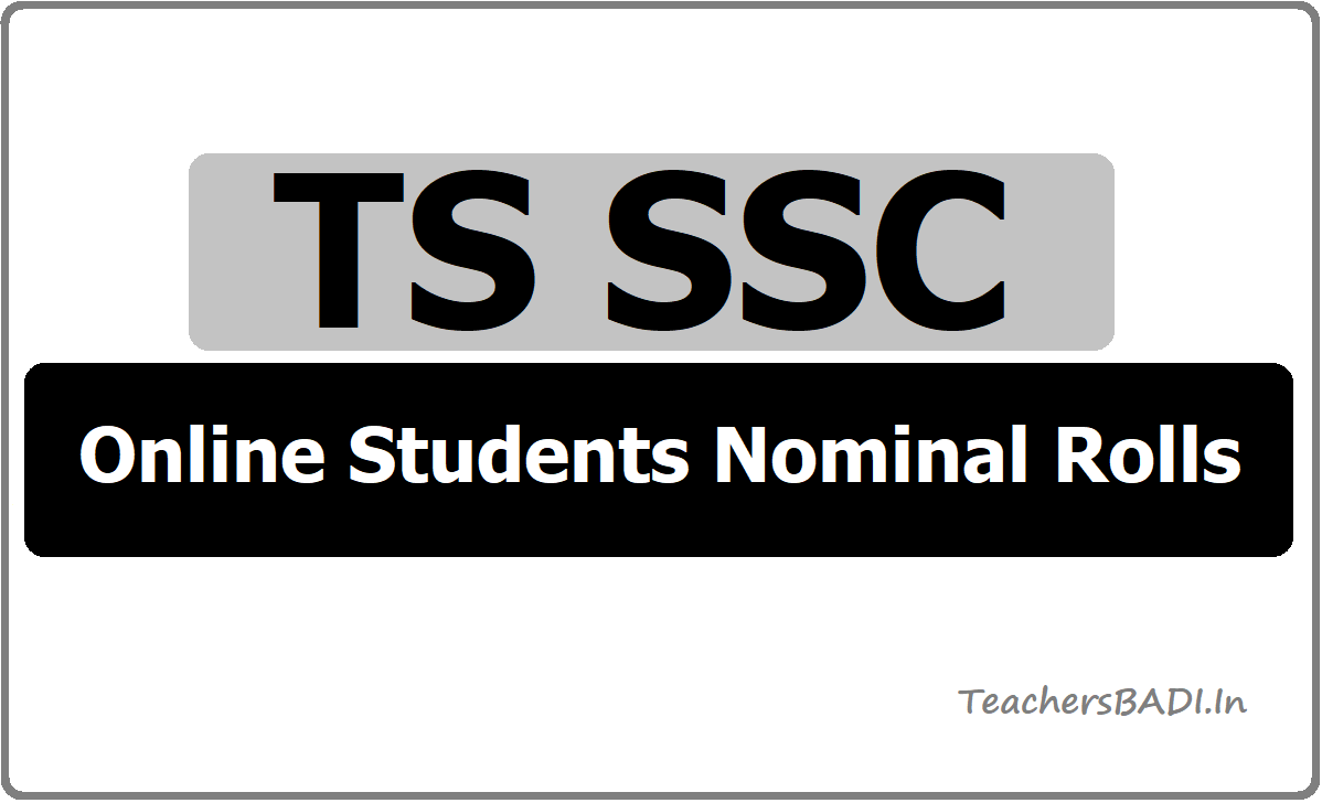 TS SSC 2020 Online Students Nominal Rolls