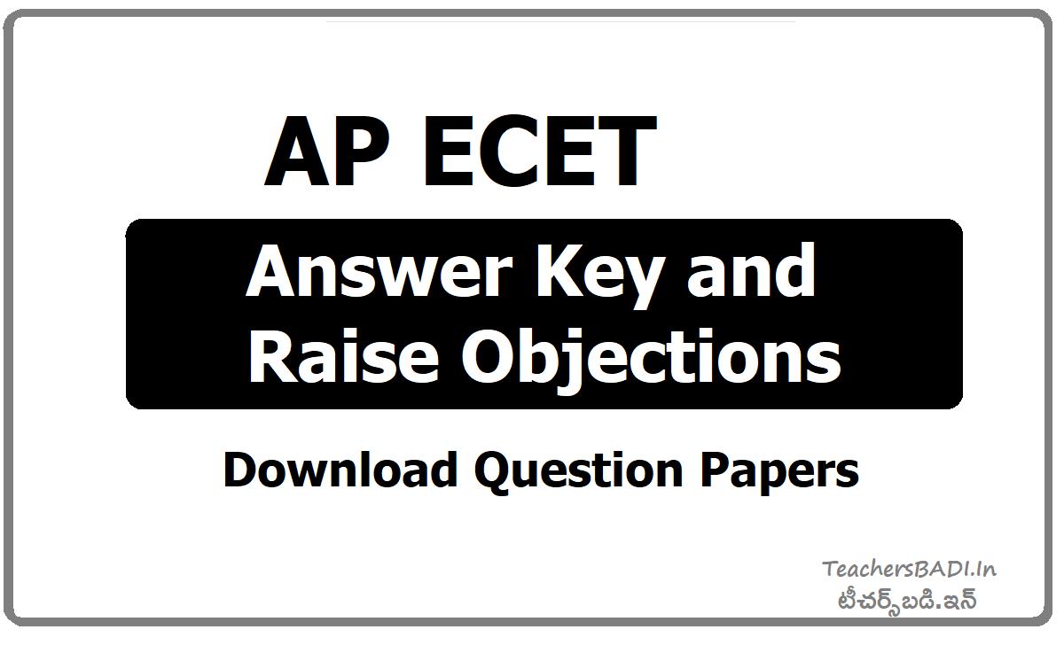 AP ECET Answer Key & Raise Objections, Question Papers