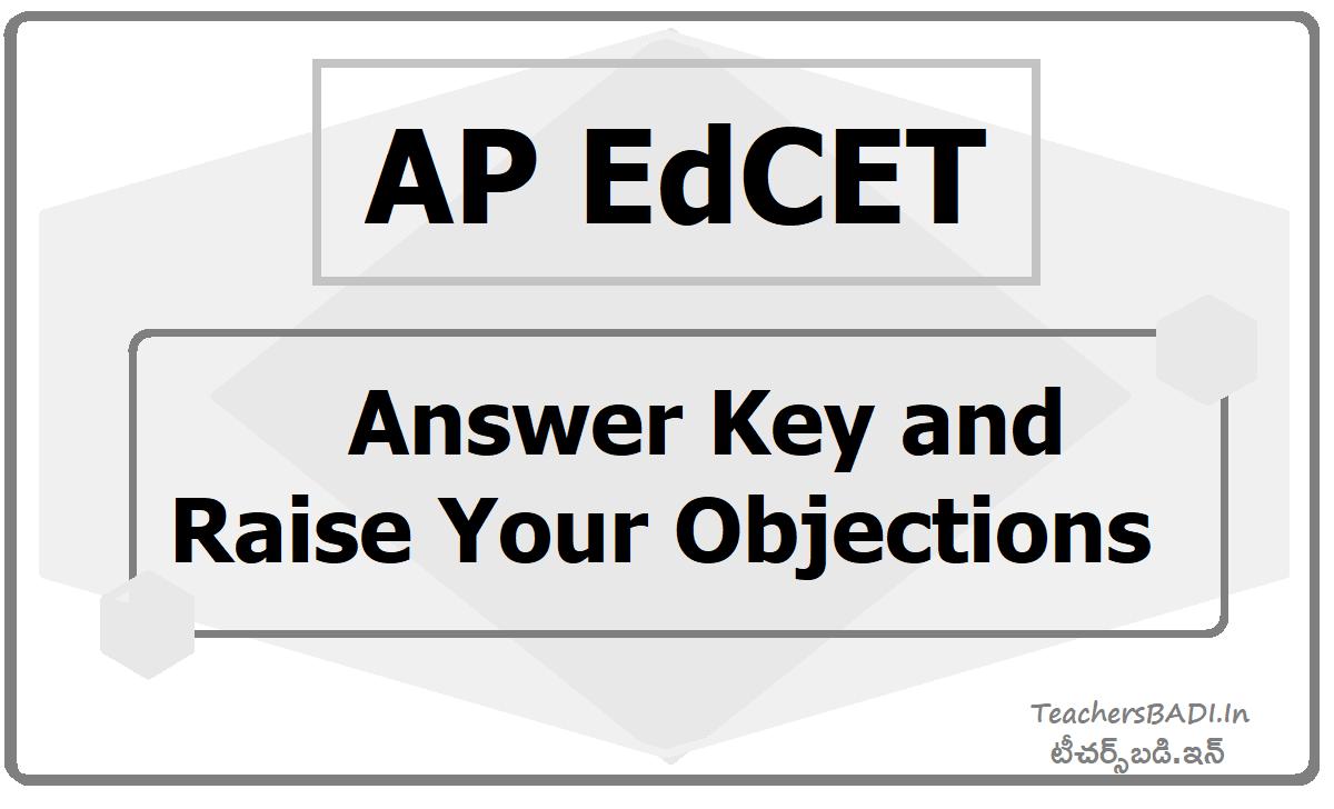 AP EdCET Answer Key 2020 & Raise Your Objections