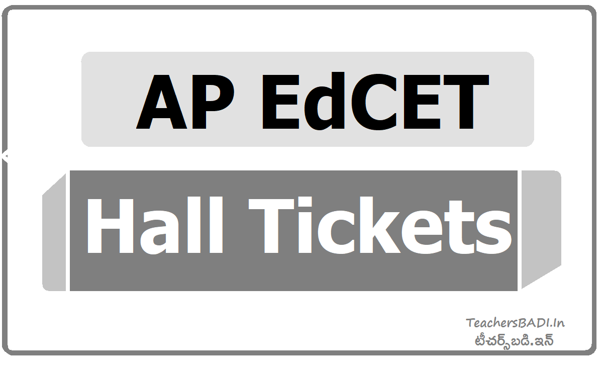 AP EdCET Hall Tickets