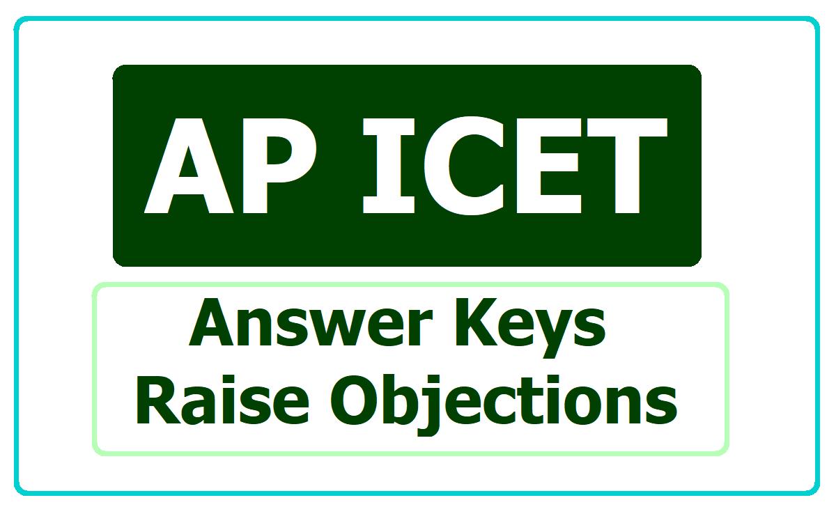 AP ICET Answer Keys 2020 & Raise Objections