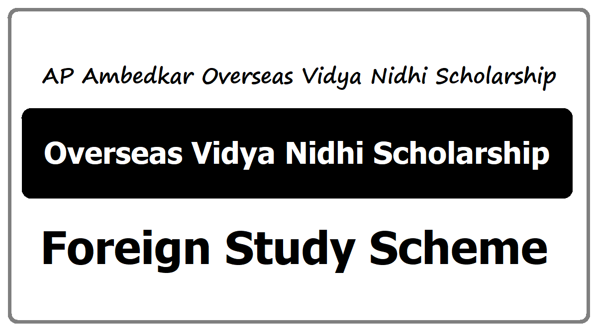 AP Videshi Vidyadharana Scheme 2020 for BC Students for studying overseas