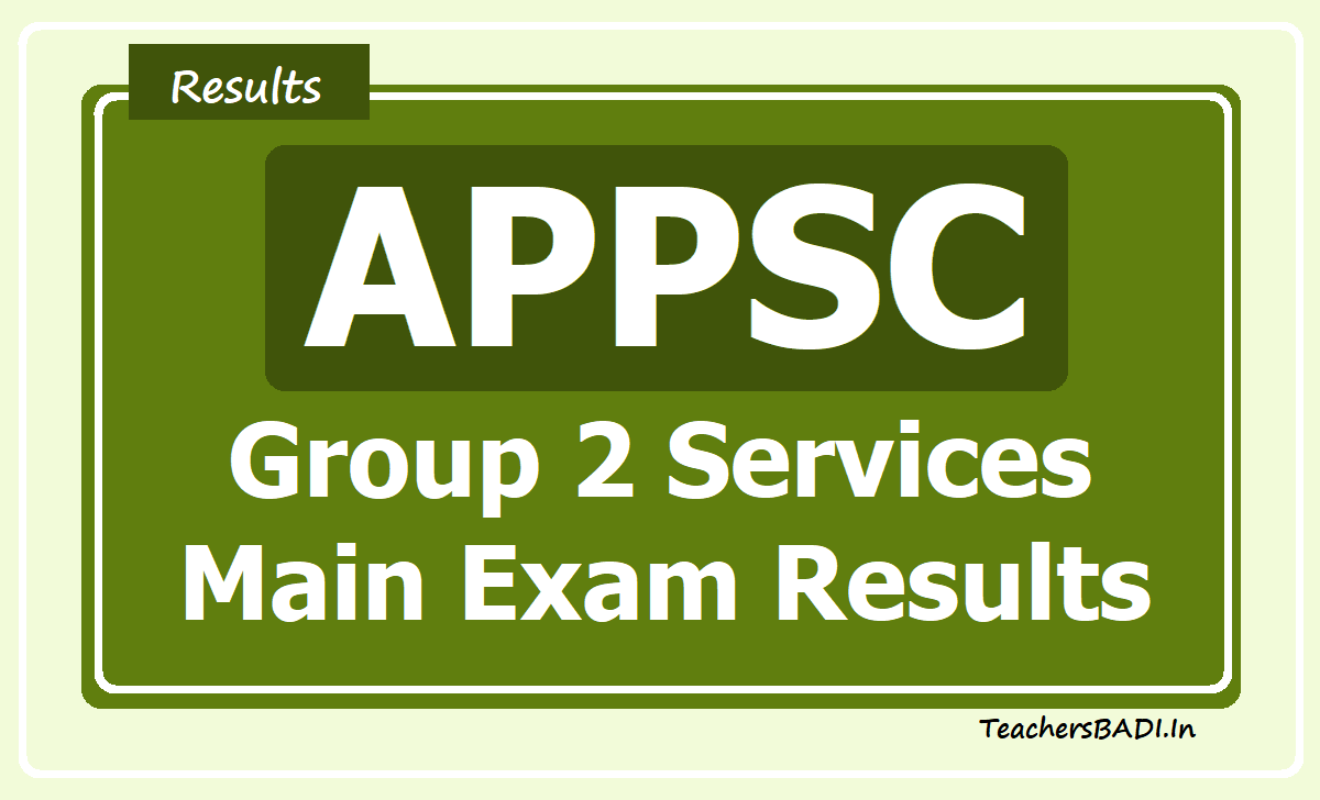 APPSC Group 2 Main Exam Results 2020
