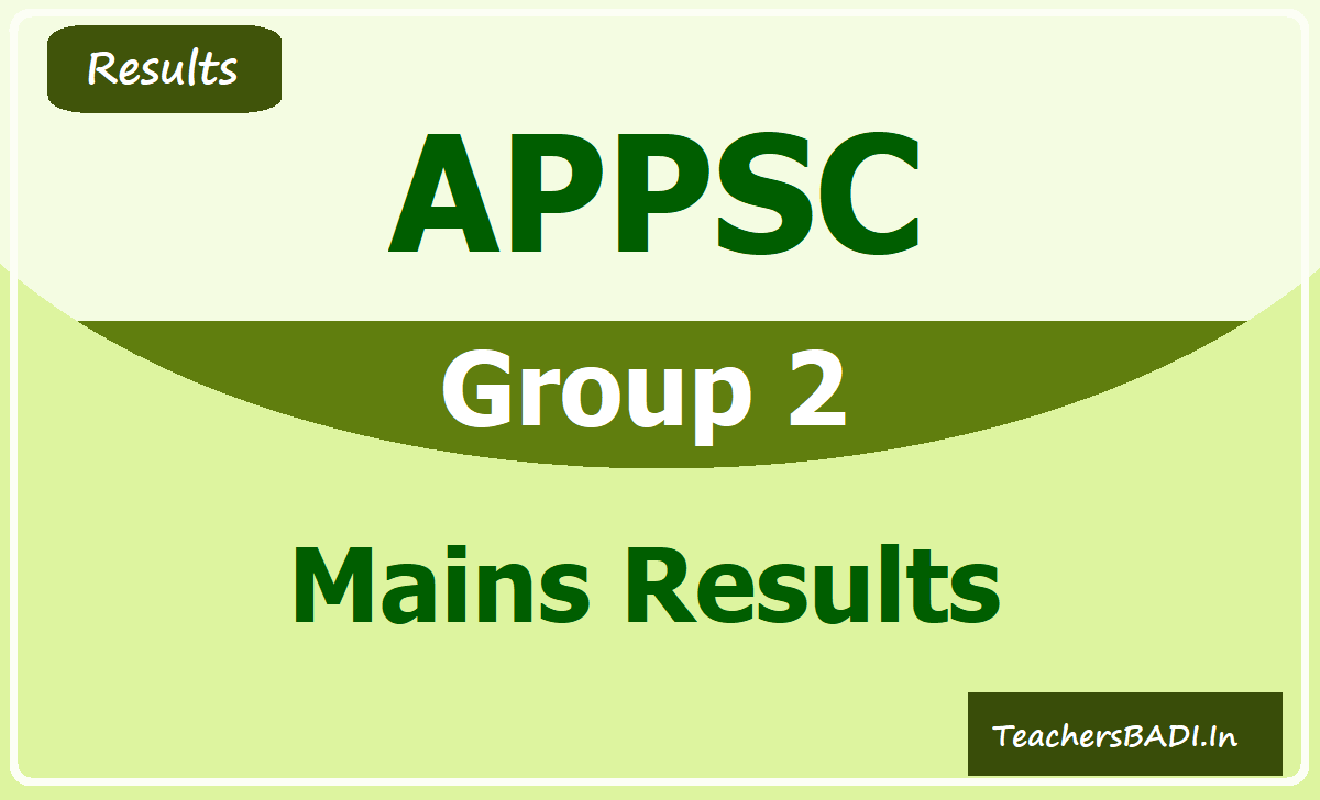 APPSC Group II Mains Results 2020