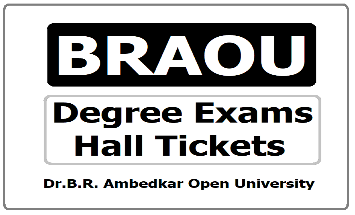 BRAOU Degree Exams Hall Tickets 2020 download from www.braouonline.in