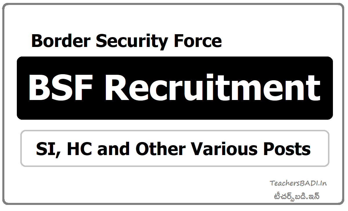 BSF Recruitment 2020 for SI, Head Constable and Other Various Posts