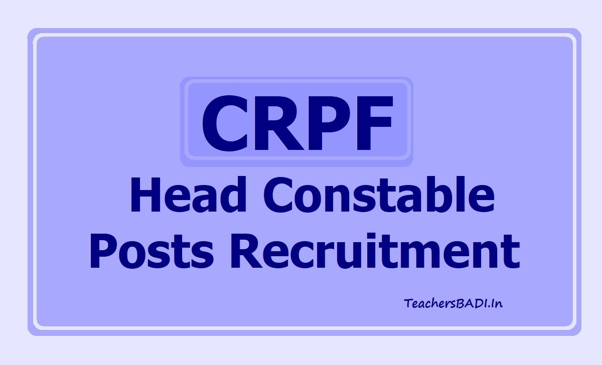 CRPF Head Constable Posts
