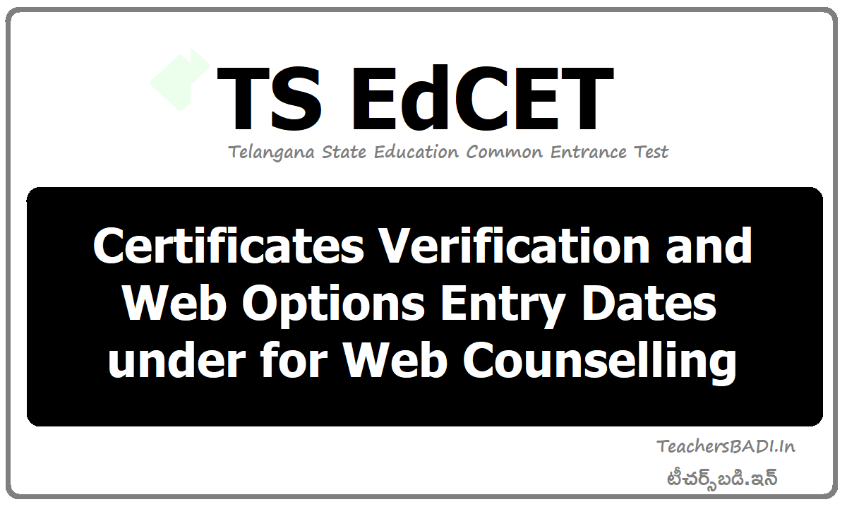 Certificates Verification & Web Options Entry Dates under for Web counselling