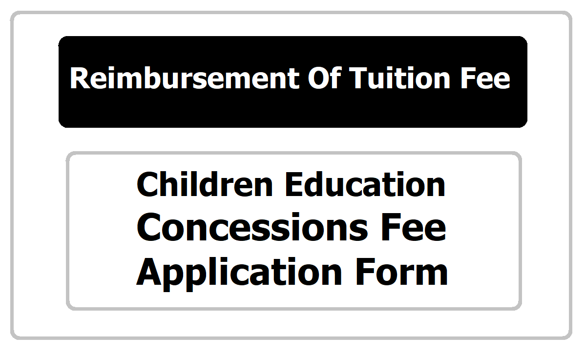 Children Education Concessions Fee Application Form 2020