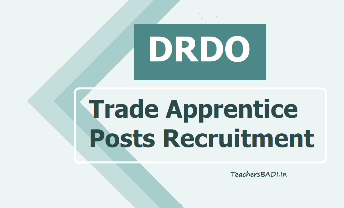 DRDO Trade Apprentice Posts 2020 Recruitment