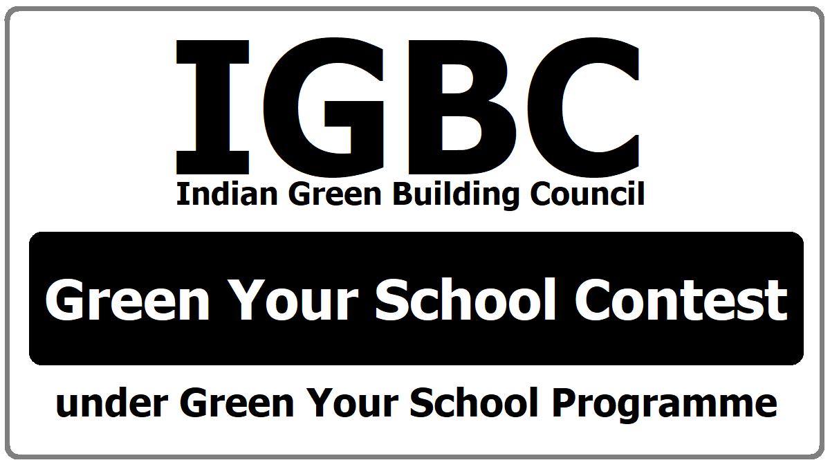 Green Your School Contest under Green Your School Programme