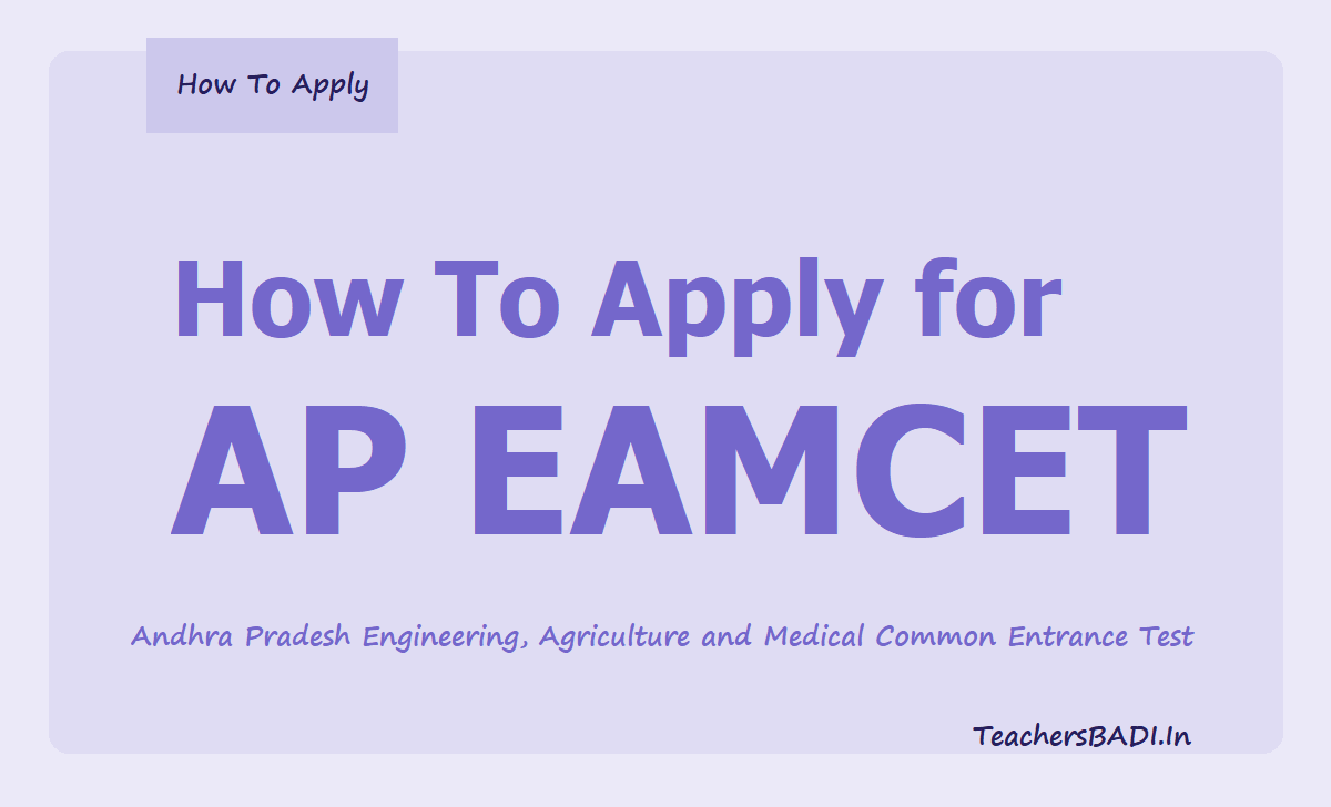 How To Apply for AP EAMCET