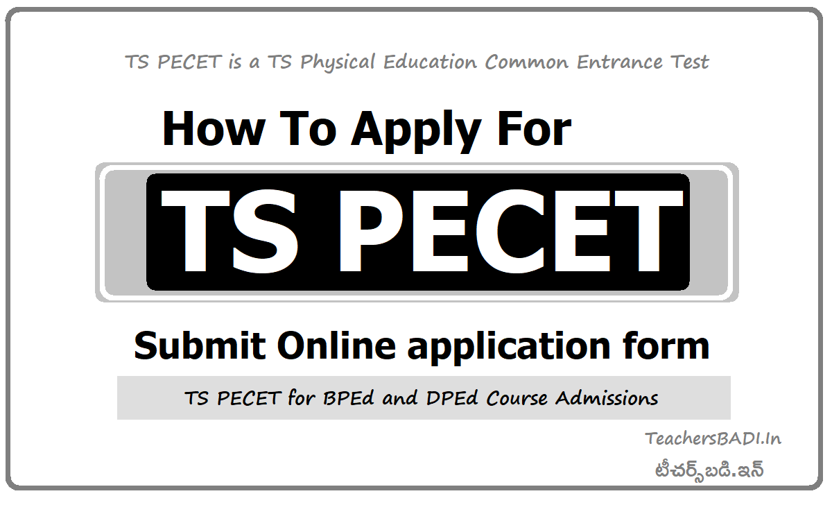 How To Apply for TS PECET 2020 & Submit Online application form