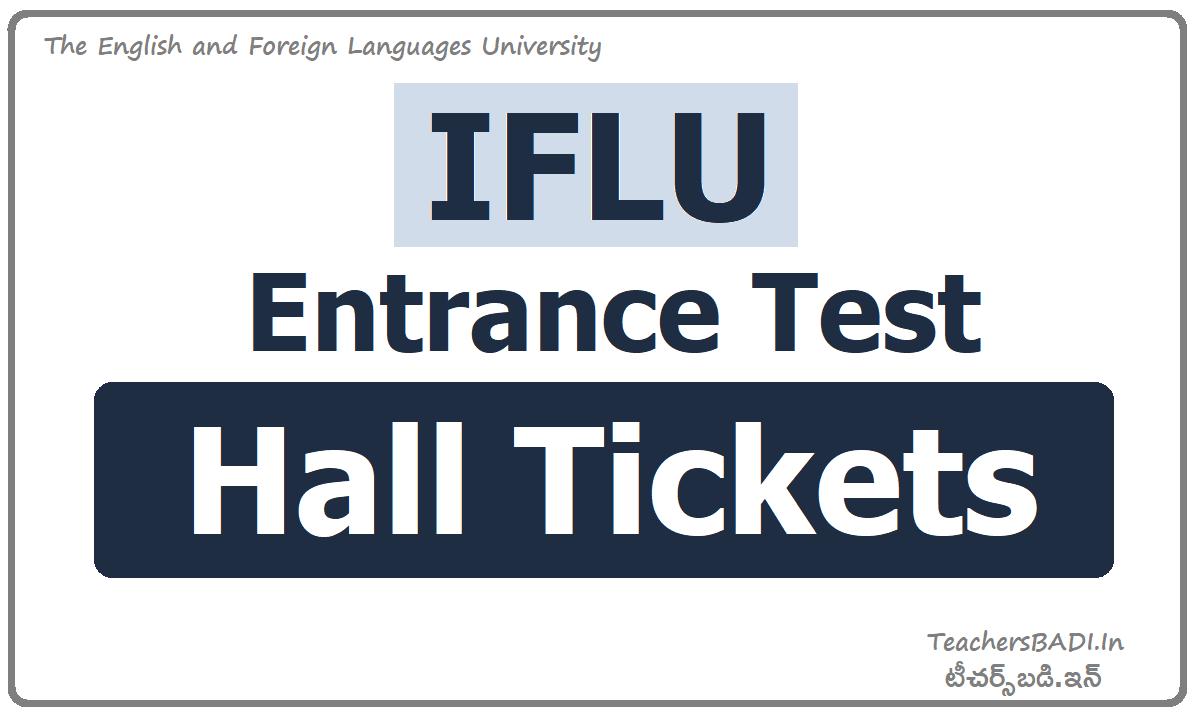 IFLU CET Hall Tickets