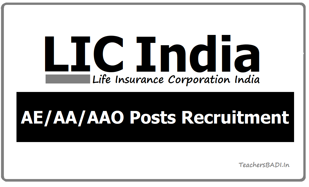 LIC AE AA AAO Posts Recruitment, Apply Online at licindia.in