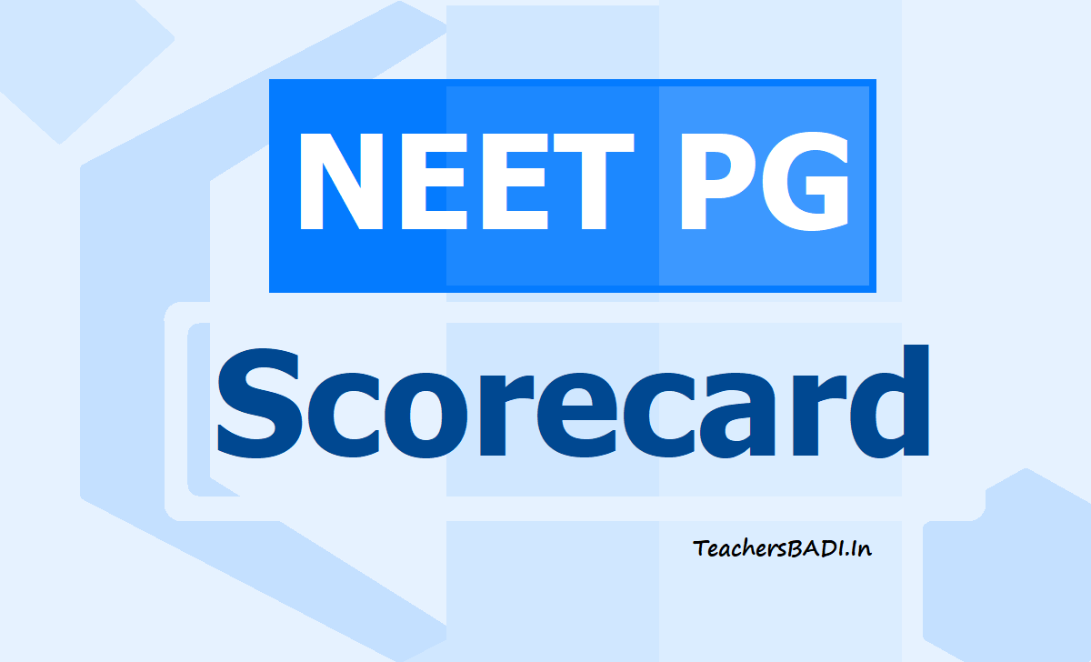 NEET PG Scorecard