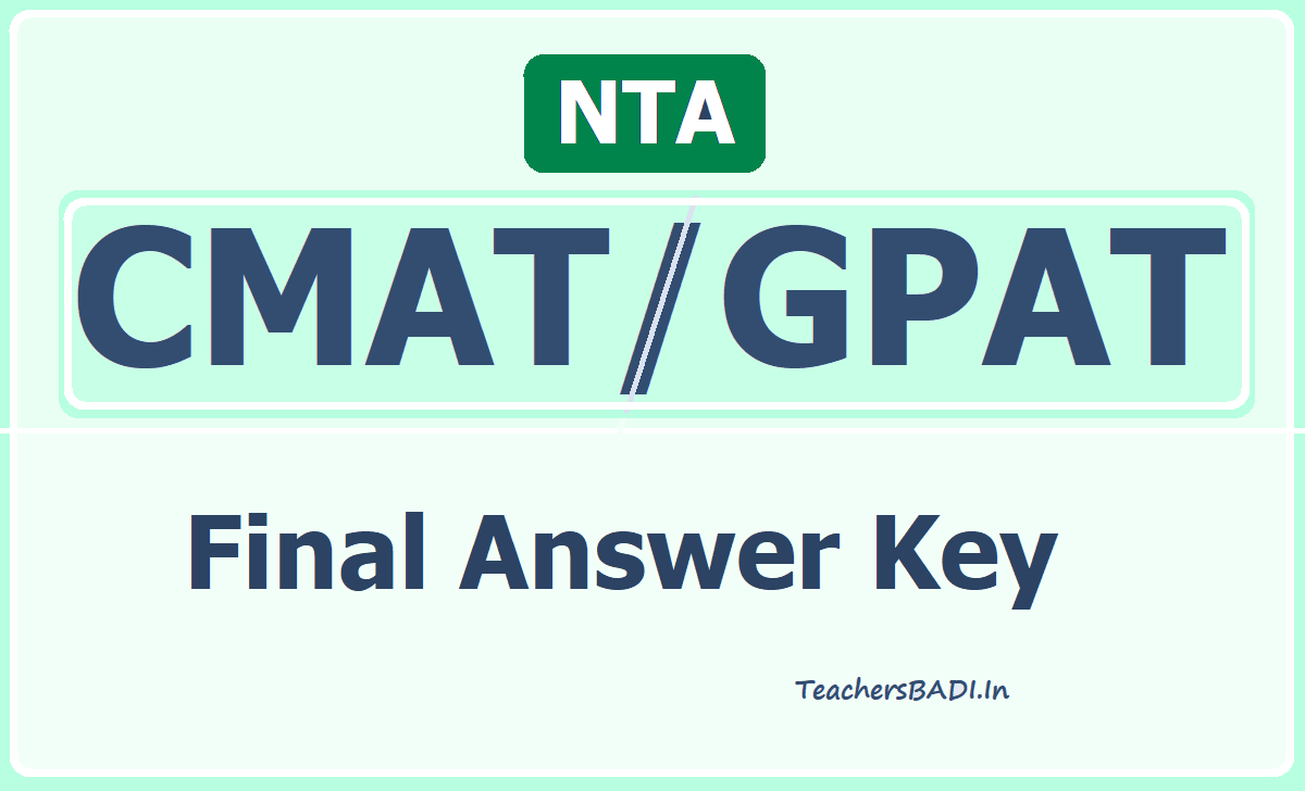 CMAT/GPAT Final Answer Key
