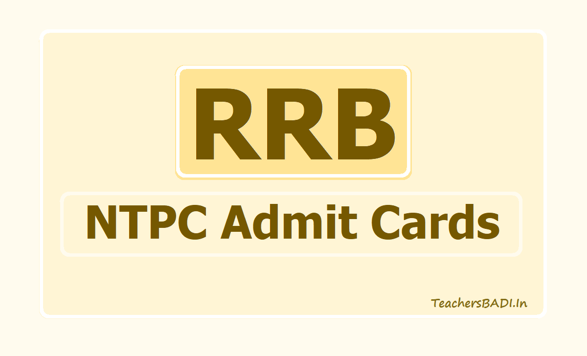 RRB NTPC Admit Cards 2019, Exam dates