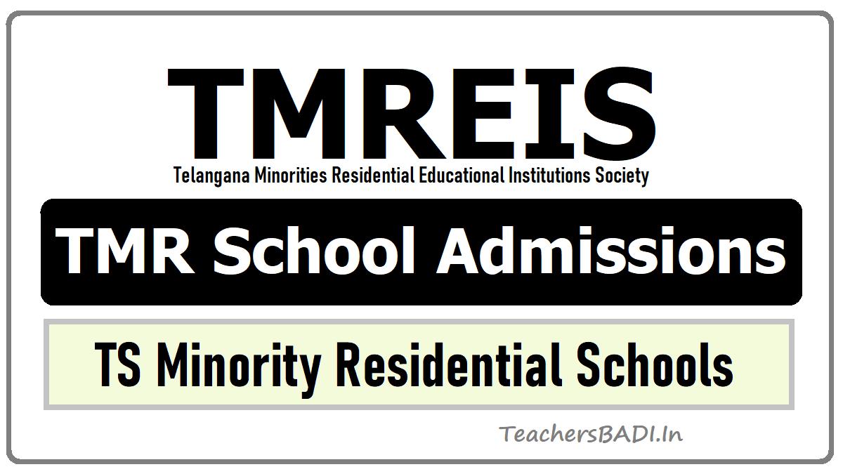 TMREIS TMR Schools 5th 6th 7th 8th 9th Class Admissions in TS Minority Residential Schools